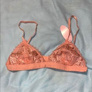 Shimmery peach Laced bralette Size S